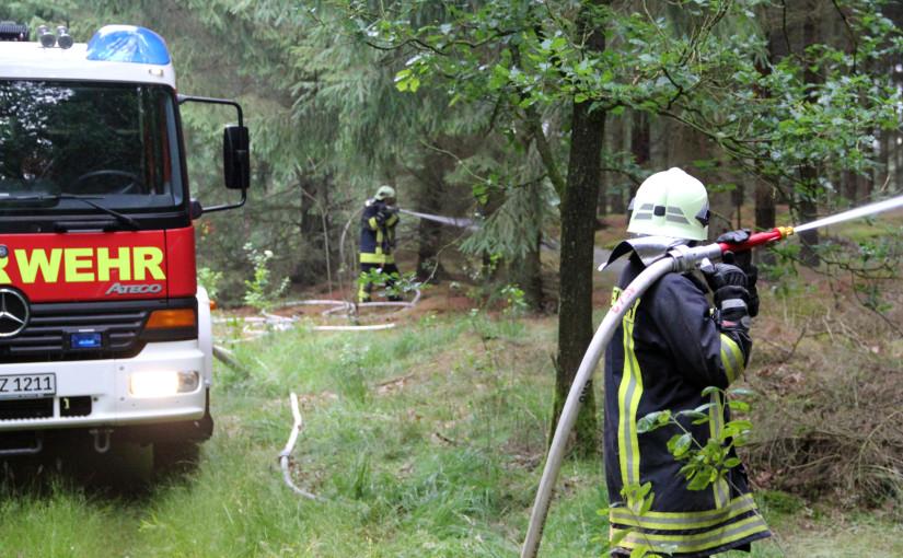 15.07.2015 – Waldbrand in Glaner Heide nur ein Übungsszenario