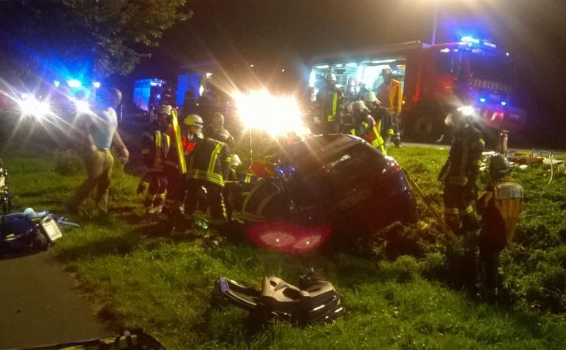 29.08.2015 – Schwerer Verkehrsunfall auf der Holler Landstraße