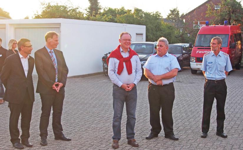 27.07.2015 – Besuch des Nds.-Ministerpräsidenten Stephan Weil bei der Feuerwehr in Varel