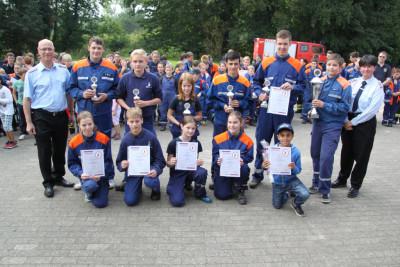 12.09.2015 – Jugendfeuerwehr Beckeln siegt bei Mini-Olympiade