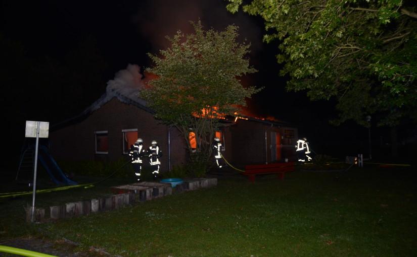 29.08.2015 – Vereinsheim durch Brand zerstört