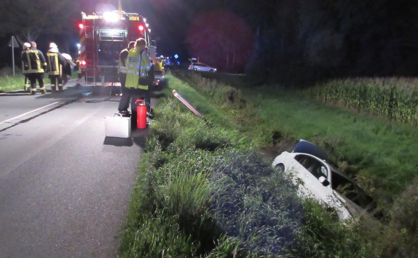 02.09.2015 – Verkehrsunfall mit vier Verletzten zwischen Kirchhatten und Neerstedt
