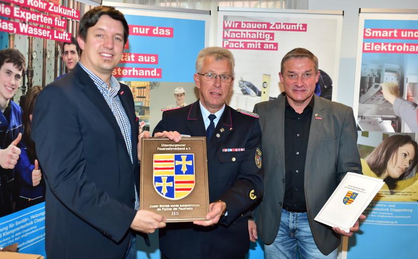 30.10.2015 – Kreishandwerkerschaft als Partner der Feuerwehr ausgezeichnet