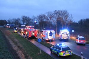 Schwerer Verkehrsunfall auf der B 437 0843-1