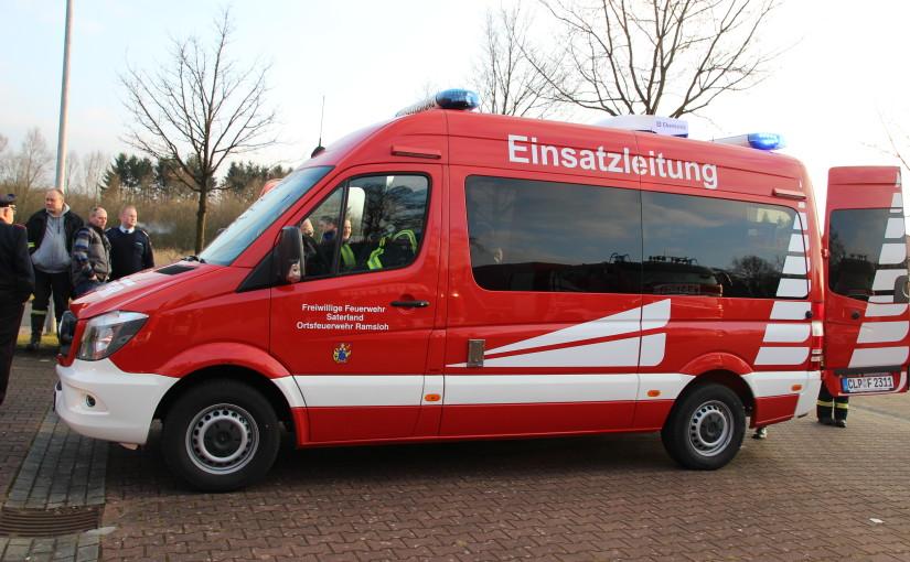 11.03.2016 –  Neuer ELW 1 für die Feuerwehr Ramsloh