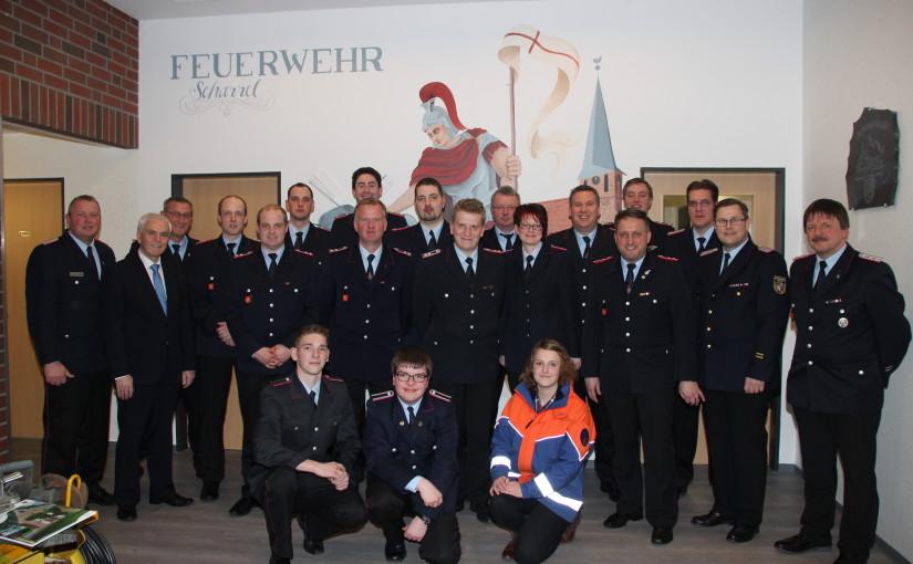 23.02.2016 – Feuerwehr Scharrel rückte im letzten Jahr zu 119 Einsätzen aus