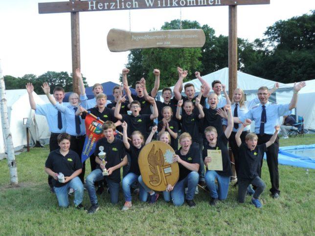 Die Jugendfeuerwehr Borringhausen sicherte sich im Zeltlager den Gesamtsieg / Bild: Jens Lindemann